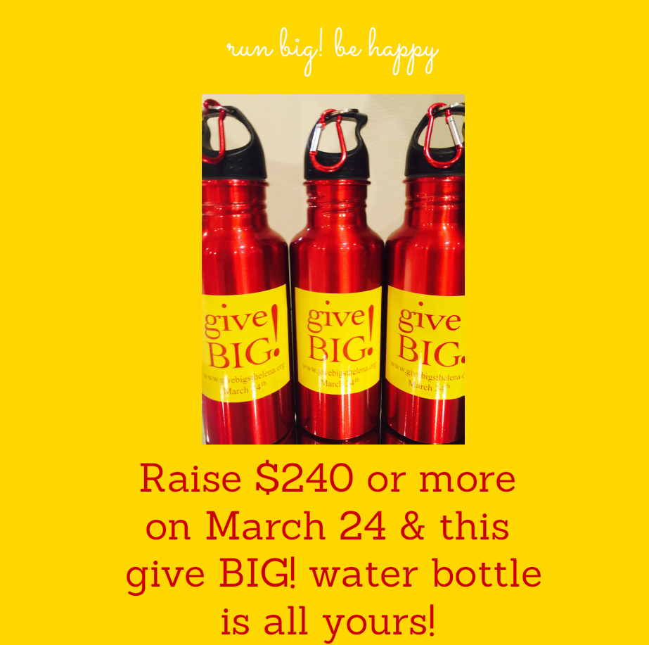Give Big! Water Bottle!