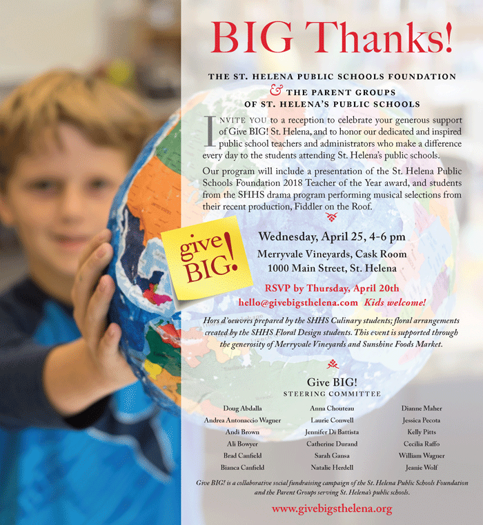 Join Us: BIG! Thanks Celebration April 25