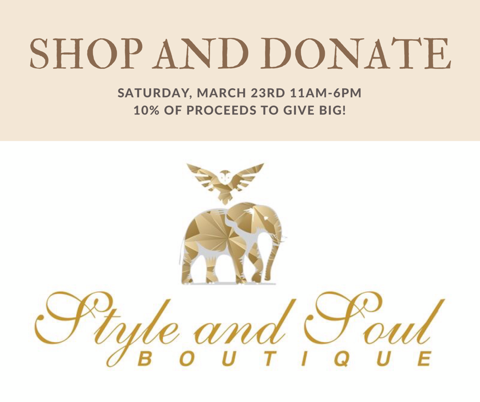 Shop and Donate at Style and Soul Boutique