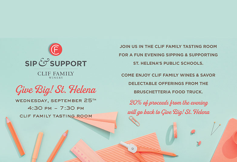 Sip & Support at Clif Family Winery
